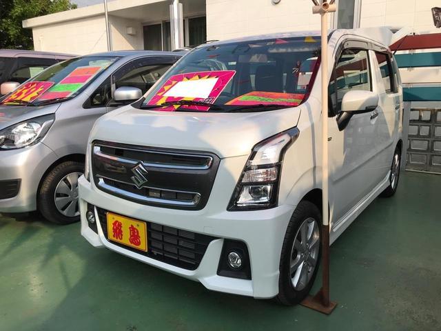 沖縄の中古車 スズキ ワゴンRスティングレー 車両価格 119万円 リ済別 2018(平成30)年 1.0万km ピュアホワイトパール