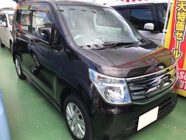沖縄の中古車 スズキ ワゴンR 車両価格 75万円 リ済別 2014(平成26)年 4.2万km ブラウンM
