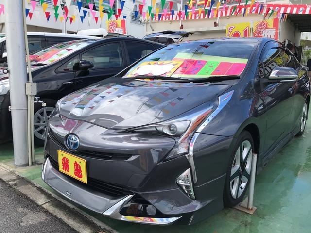 沖縄の中古車 トヨタ プリウス 車両価格 188万円 リ済別 2016(平成28)年 6.9万km グレーメタリック
