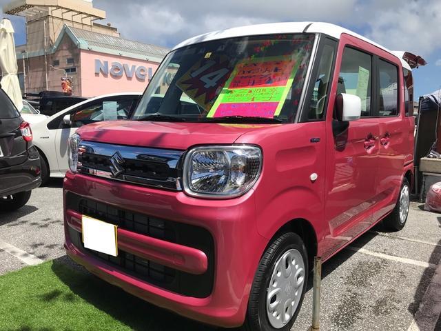 沖縄の中古車 スズキ スペーシア 車両価格 149万円 リ済別 2020(令和2)年 0.3万km チアフルピンクメタリック