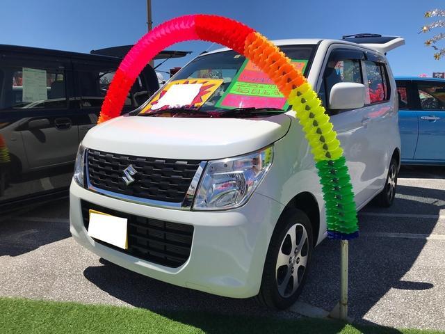 沖縄県の中古車ならワゴンR FX キーレス アイドリングストップ シートヒーター 純正オーディオ オートエアコン ベンチシート Wエアバッグ