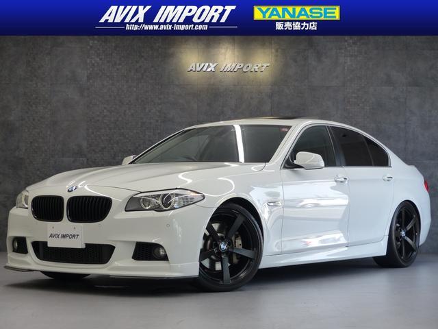 BMW 5シリーズ 535i 3DデザインPKG SR 黒革 ナビ 地デジ Bカメラ クルーズコントロール コンフォートアクセス フォージド20AW 3Dデザインフロントリップスポイラー 3Dデザイン車高調トランクリッドスポイラー