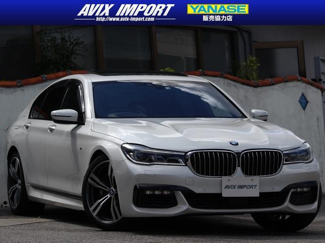 BMW 7シリーズ 750i Mスポーツ 黒レザー ガラスSR レーザーライト V8ツインターボ ACC HUD インテリジェントセーフ 純正HDDナビ地デジ全周カメ 20AW パワーテールゲート ヘッドアップディスプレイ 禁煙車 本土仕入