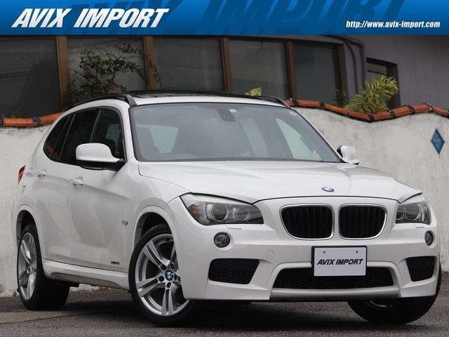 BMW X1 sDrive 18i Mスポーツパッケージ パノラマSR コンフォートアクセス 社外ナビ地デジBカメラ キセノンヘッドライト 純正18AW 右ハンドル ミラーETC BMW正規ディーラー車 DOHC直列4気筒 本土仕入