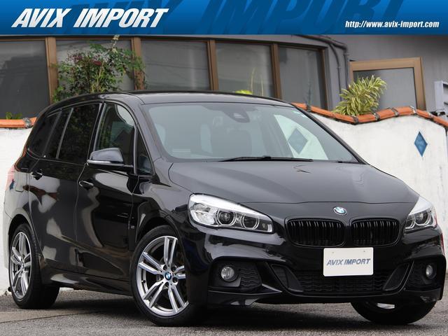 BMW 2シリーズ 218dグランツアラー Mスポーツ ACC HUD 安全支援装置 LEDライト 純正HDDナビ地デジBカメラ 16AW オートトランク 7人乗 禁煙1オナ DOHC直列4気筒ディーゼルターボ プッシュスタート 本土仕入