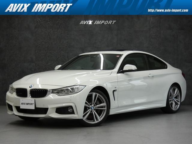 BMW 4シリーズ 435iクーペ Mスポーツ 黒レザー ガラスSR HUD 安全支援装置 純正HDDナビ地デジBカメラ LEDライト 19AW メモリー付パワーシート シートヒーター DOHC 直列6気筒ターボ 禁煙1オナ