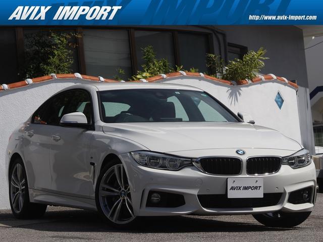 BMW 435iグランクーペ Mスポーツ 赤レザー ACC HUD 安全支援装置 純正HDDナビBカメラ パークディスタンスコントロール LEDライト 19AW プッシュスタート DOHC 直列6気筒ターボ 禁煙車 本土仕入