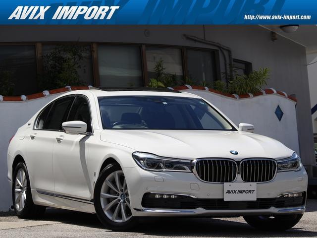 BMW 7シリーズ 740eアイパフォーマンス 黒革 ガラスSR 18AW 3Dビューカメラ Dアシストプラス ヘッドアップD レーザーライト フットトランク ハーマンカードン 禁煙 DOHC 直列4気筒ターボ+モーター 電子制御8速AT 本州仕入