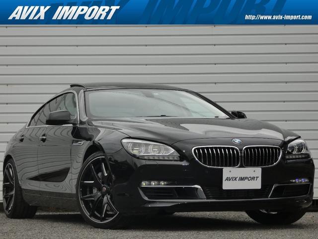 BMW 6シリーズ 640iグランクーペ パノラマガラスSR ホワイトレザー 純正HDDナビ地デジBカメラ LEDライト クラブリネア20AW 禁煙車 DOHC 直列6気筒ターボ パークディスタンスコントロール パドルシフト 本州仕入