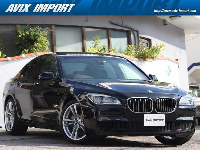 BMW 7シリーズ 740i 後期型 MスポーツPKG ガラスSR 安全支援装置 黒革 純正HDDナビ地デジBカメラ LEDライト 20AW 禁煙車 DOHC直列6気筒ツインターボ 電子制御8速AT 本州仕入