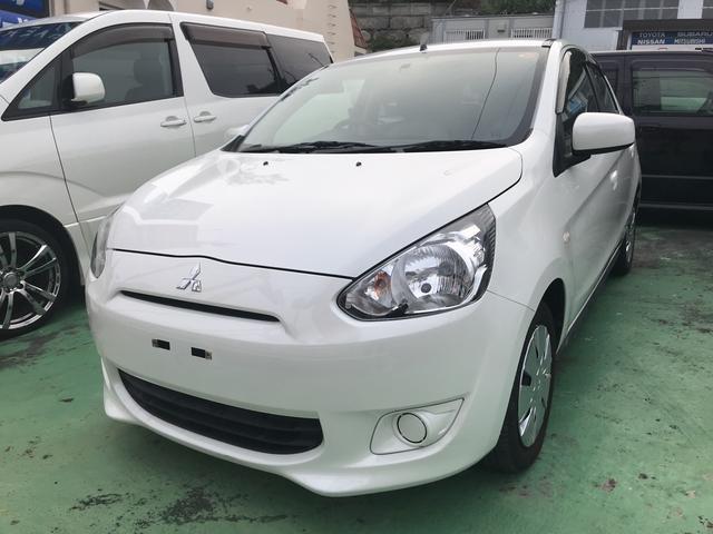 沖縄の中古車 三菱 ミラージュ 車両価格 39万円 リ済込 2013(平成25)年 7.5万km パール