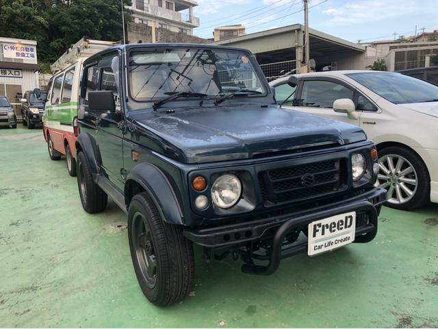 沖縄の中古車 スズキ ジムニーシエラ 車両価格 30万円 リ済込 平成8年 21.5万km ダークブルー