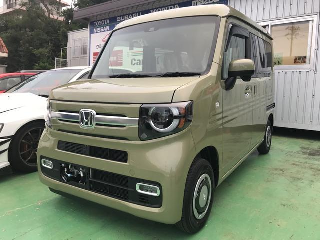 沖縄の中古車 ホンダ N-VAN+スタイル 車両価格 156万円 リ未 新車  グリーン