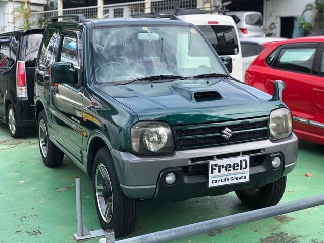 沖縄の中古車 スズキ ジムニー 車両価格 80万円 リ済込 2006(平成18)年 4.7万km グリーン2トーン