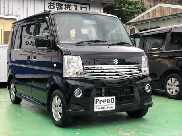 沖縄の中古車 スズキ エブリイワゴン 車両価格 64.4万円 リ済込 2012(平成24)年 6.5万km ブラック