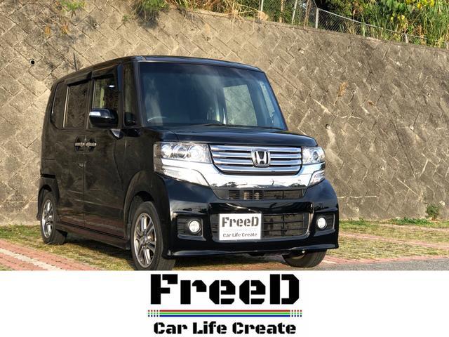 沖縄の中古車 ホンダ N-BOXカスタム 車両価格 82.8万円 リ済込 2013(平成25)年 8.1万km ブラックM