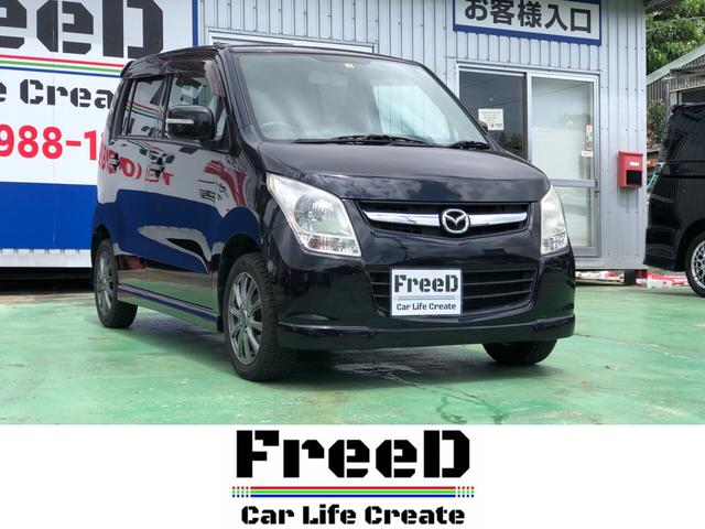 沖縄の中古車 マツダ AZワゴン 車両価格 23.8万円 リ済込 2011(平成23)年 12.3万km ブラックM