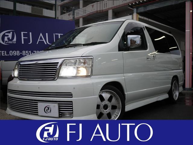 沖縄の中古車 日産 エルグランド 車両価格 74万円 リ済別 平成12年 11.2万km ホワイトM