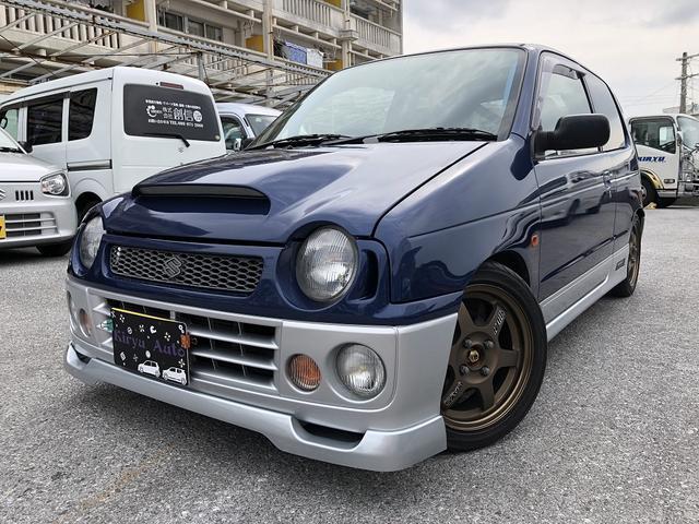 沖縄の中古車 スズキ アルトワークス 車両価格 85万円 リ済込 1998(平成10)年 11.7万km 紺II