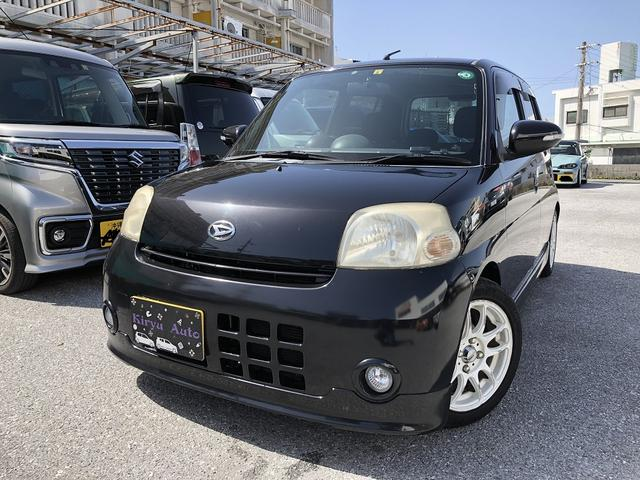 沖縄の中古車 ダイハツ エッセ 車両価格 44万円 リ済込 2007(平成19)年 改ざん車 ブラックM