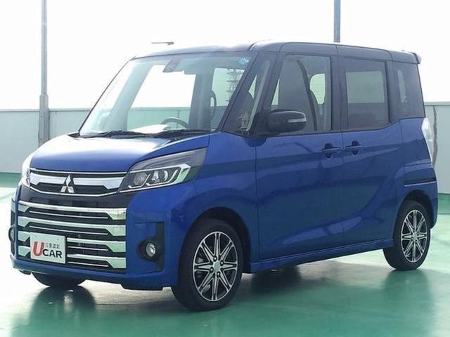 沖縄の中古車 三菱 eKスペースカスタム 車両価格 159.8万円 リ済別 平成30年 228km ブルーII