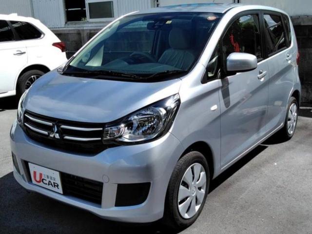 沖縄の中古車 三菱 eKワゴン 車両価格 104.8万円 リ済別 2017(平成29)年 0.2万km シルバー
