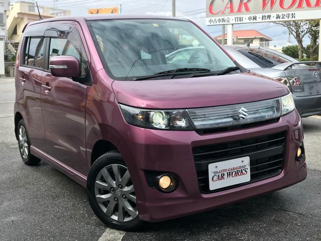 沖縄の中古車 スズキ ワゴンRスティングレー 車両価格 43万円 リ済込 平成23年 8.0万km ピンク