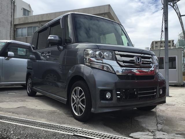 沖縄の中古車 ホンダ N BOXカスタム 車両価格 149.8万円 リ済別 平成29年 0.5万km ガンM