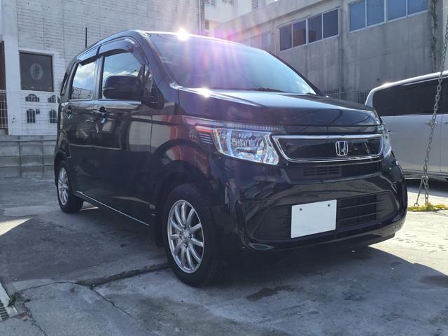 沖縄の中古車 ホンダ N-WGN 車両価格 89.8万円 リ済別 平成27年 1.8万km ブラックM