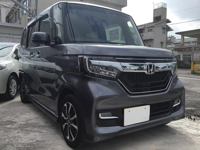沖縄の中古車 ホンダ N-BOXカスタム 車両価格 159.8万円 リ済別 2018(平成30)年 0.7万km グレーM