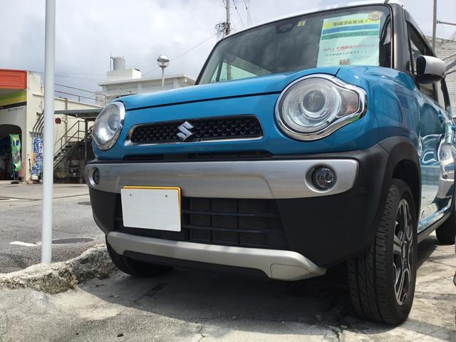 沖縄の中古車 スズキ ハスラー 車両価格 84.8万円 リ済別 2014(平成26)年 5.4万km ブルーII