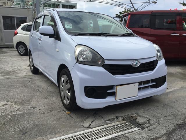 沖縄の中古車 ダイハツ ミライース 車両価格 29.8万円 リ済別 2014(平成26)年 6.1万km ライトブルーM