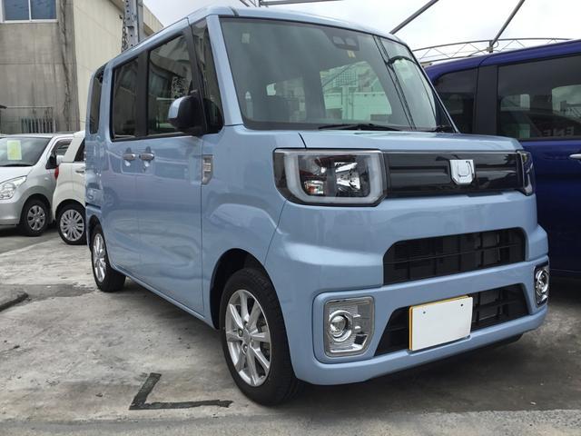 沖縄の中古車 ダイハツ ウェイク 車両価格 139.8万円 リ済別 2019(令和1)年 10km ライトブルーM
