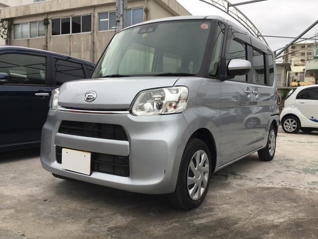 沖縄の中古車 ダイハツ タント 車両価格 119.8万円 リ済別 2018(平成30)年 0.6万km シルバーM