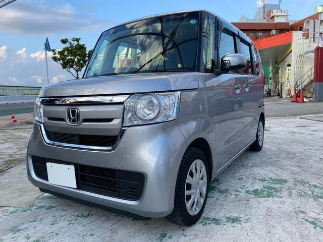 沖縄の中古車 ホンダ N-BOX 車両価格 109.8万円 リ済別 2017(平成29)年 2.0万km シルバーM