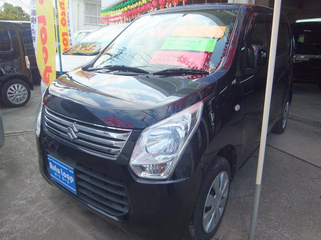 沖縄の中古車 スズキ ワゴンR 車両価格 39万円 リ済込 2013(平成25)年 11.2万km ブラックM