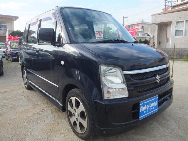 沖縄の中古車 スズキ ワゴンR 車両価格 24万円 リ済込 平成20年 10.0万km ブラックM