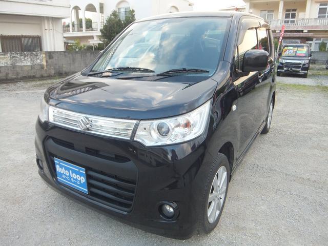 沖縄の中古車 スズキ ワゴンRスティングレー 車両価格 59万円 リ済込 平成25年 8.1万km ブラックM
