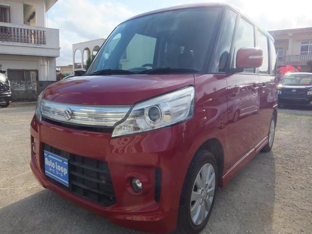 沖縄の中古車 スズキ スペーシアカスタム 車両価格 69万円 リ済込 2013(平成25)年 8.7万km レッドM