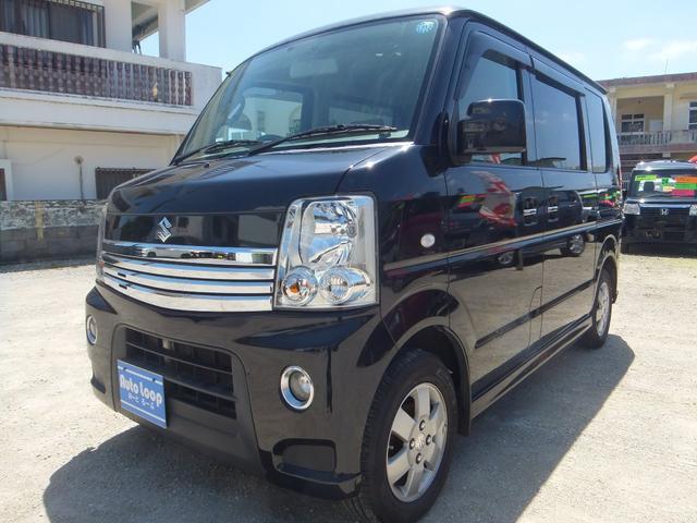 沖縄の中古車 スズキ エブリイワゴン 車両価格 57万円 リ済込 2011(平成23)年 10.2万km ブラックM
