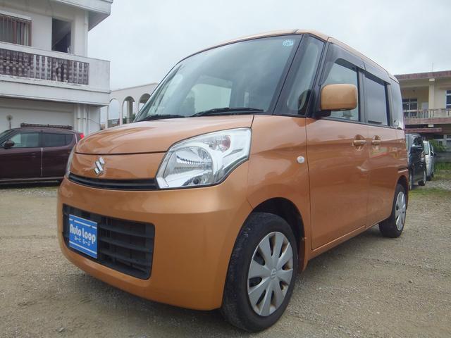 沖縄の中古車 スズキ スペーシア 車両価格 53万円 リ済込 2013(平成25)年 7.7万km オレンジM