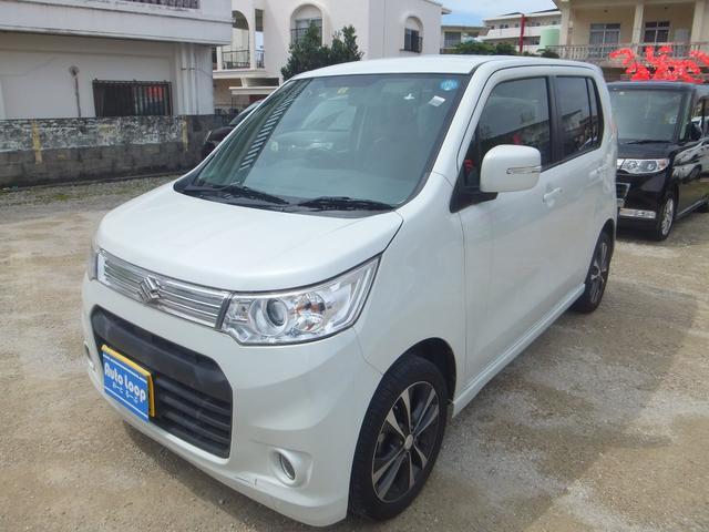 沖縄の中古車 スズキ ワゴンRスティングレー 車両価格 55万円 リ済込 2013(平成25)年 9.8万km パールホワイト