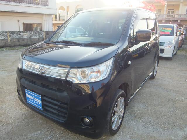 沖縄の中古車 スズキ ワゴンRスティングレー 車両価格 54万円 リ済込 2013(平成25)年 9.1万km ブラックM