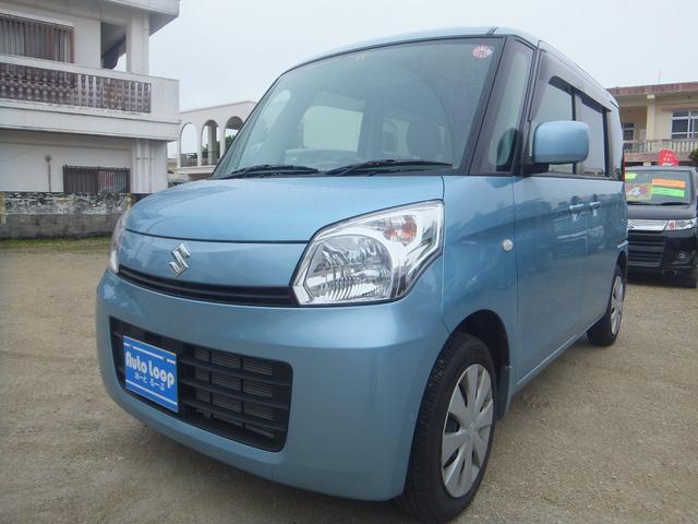 沖縄の中古車 スズキ スペーシア 車両価格 53万円 リ済込 2013(平成25)年 7.5万km ブルーM
