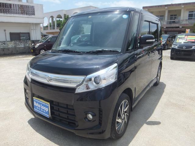 沖縄の中古車 スズキ スペーシアカスタム 車両価格 78万円 リ済込 2013(平成25)年 4.9万km ブラックM