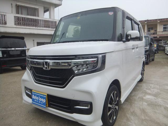 沖縄の中古車 ホンダ N-BOXカスタム 車両価格 139万円 リ済込 2018(平成30)年 2.5万km パールホワイト