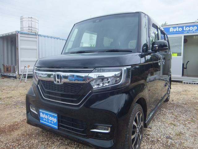 沖縄の中古車 ホンダ N-BOXカスタム 車両価格 139万円 リ済込 2018(平成30)年 3.2万km ブラックM