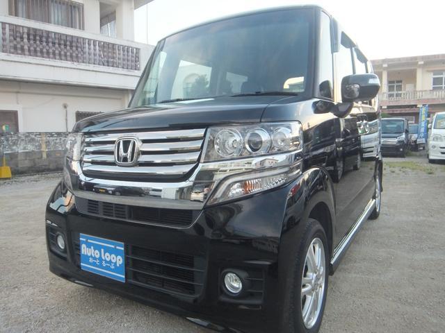 沖縄の中古車 ホンダ N-BOXカスタム 車両価格 74万円 リ済込 2012(平成24)年 9.0万km ブラック