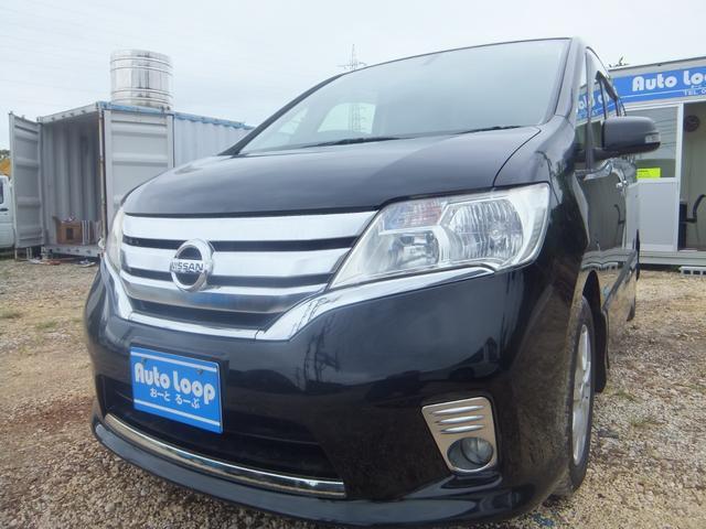 沖縄の中古車 日産 セレナ 車両価格 79万円 リ済込 2012(平成24)年 11.1万km ブラック