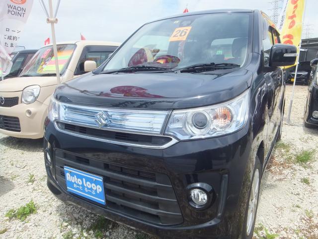 沖縄県の中古車ならワゴンRスティングレー X Sエネチャージ 本土車 レーダーブレーキサポート テレビ付きナビ ブルートゥース